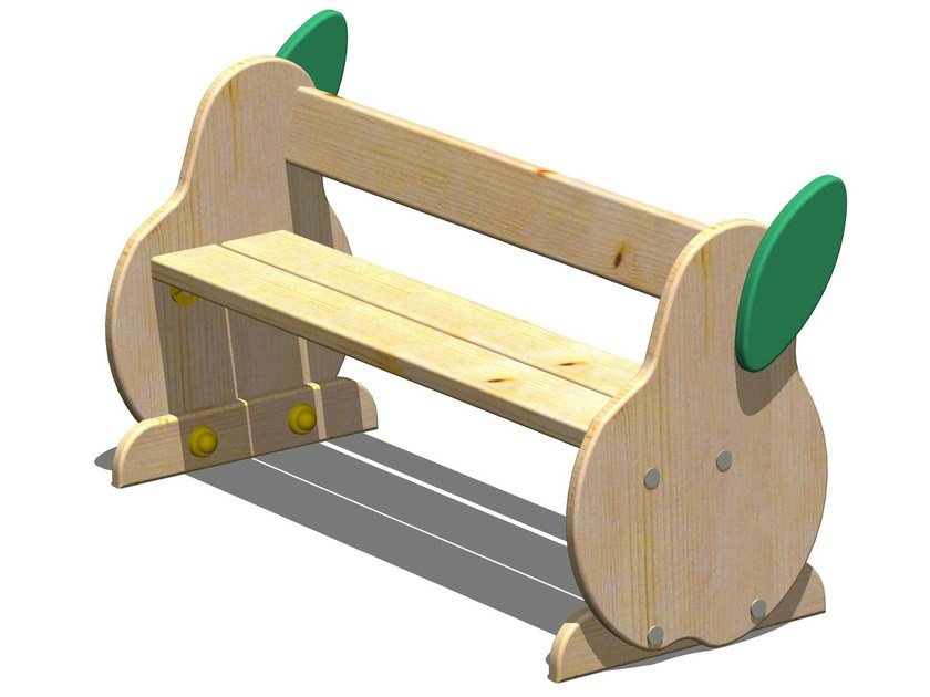 Wooden Bench / Kids bench PERA | Kids bench with back by Legnolandia