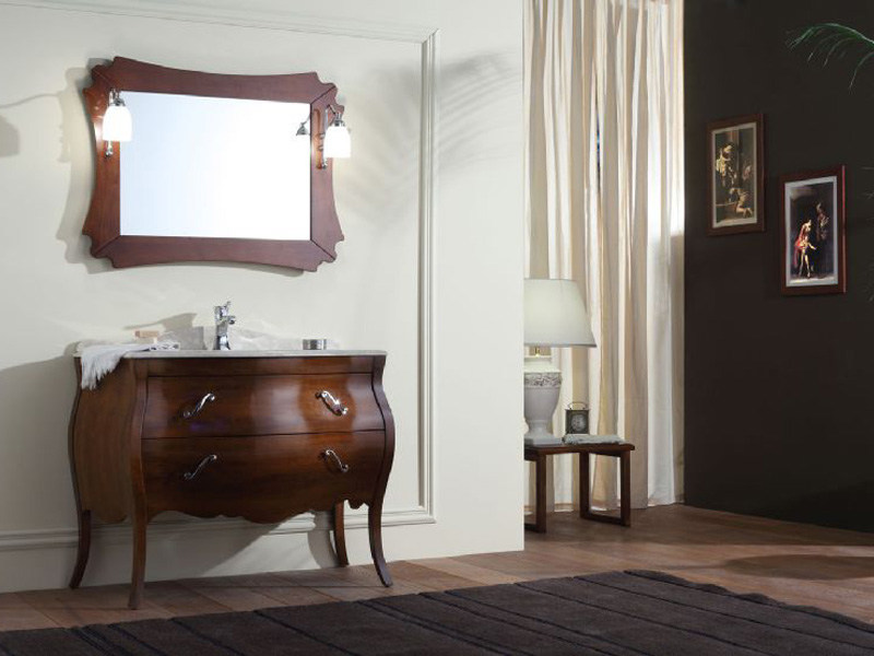 Wooden vanity unit with drawers VANITY 3 by LEGNOBAGNO