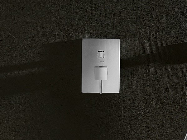 Chrome-plated shower mixer with diverter CUBE | Shower mixer with diverter by Nobili Rubinetterie