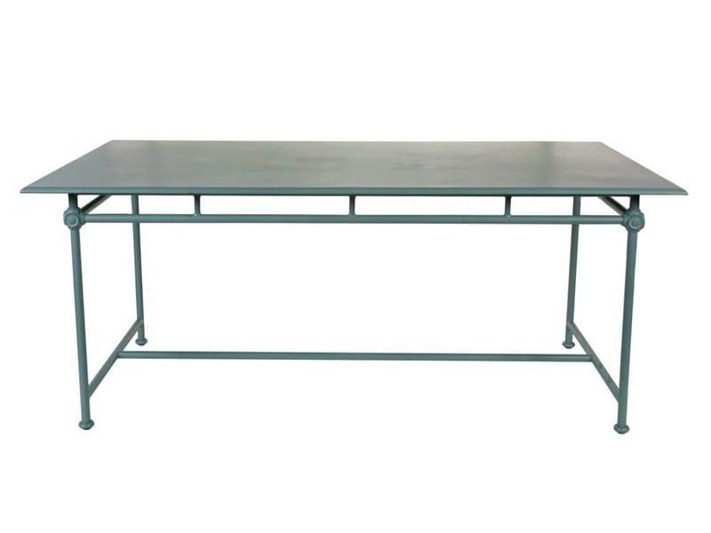 Rectangular aluminium garden table 1800 | Rectangular table by Tectona