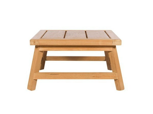 Low square teak garden side table SOMERSET   Square coffee table by Tectona