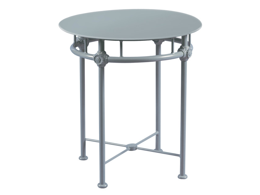 Low round aluminium garden side table 1800 | Round coffee table by Tectona
