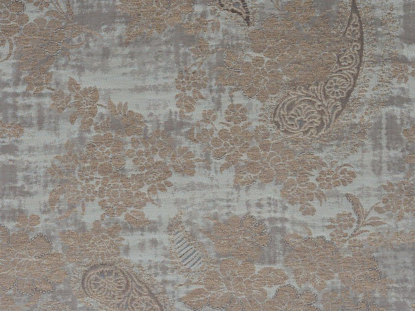 Damask cotton fabric AMY MEWS RECTO by KOHRO