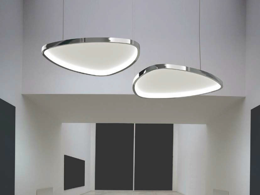 LED pendant lamp with acoustic diffusor SOFT DELTA by Sattler
