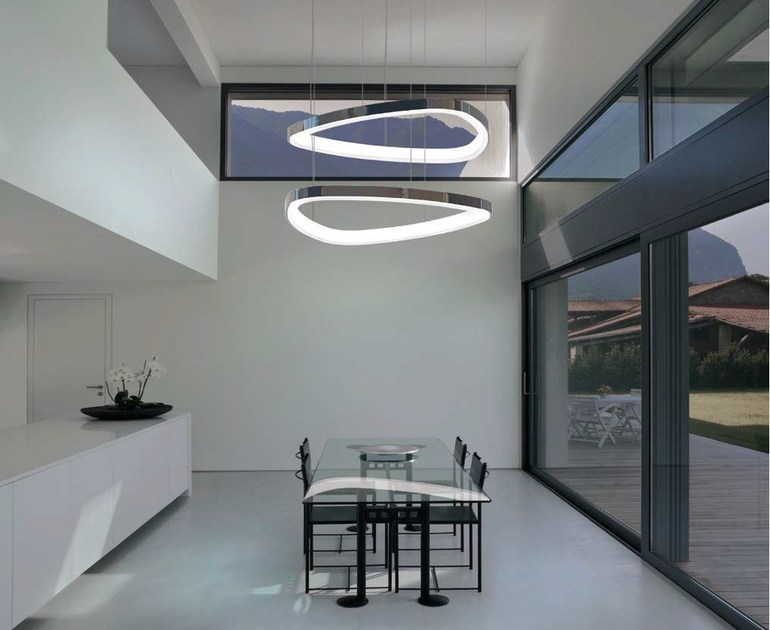 LED aluminium pendant lamp SOFT DELTA | Pendant lamp by Sattler