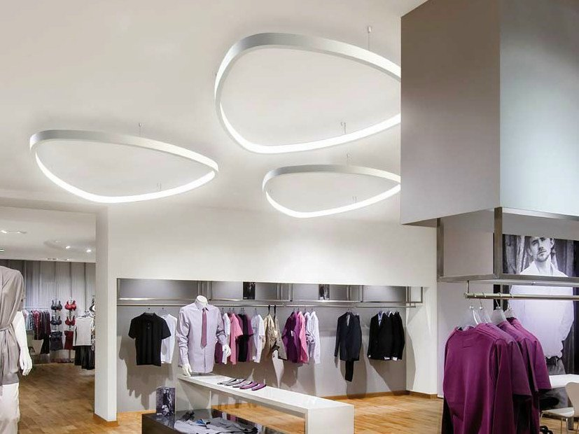 LED aluminium ceiling lamp SOFT DELTA | Ceiling lamp by Sattler