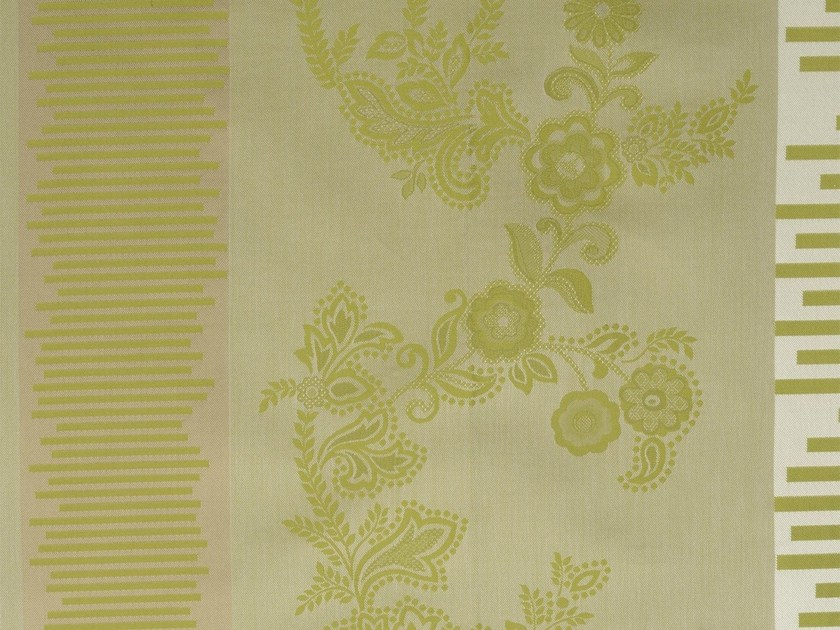 Damask cotton fabric COTE VERMEILLE RECTO by KOHRO