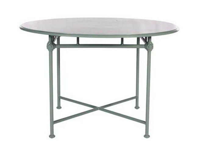 Round aluminium garden table 1800   Round table by Tectona