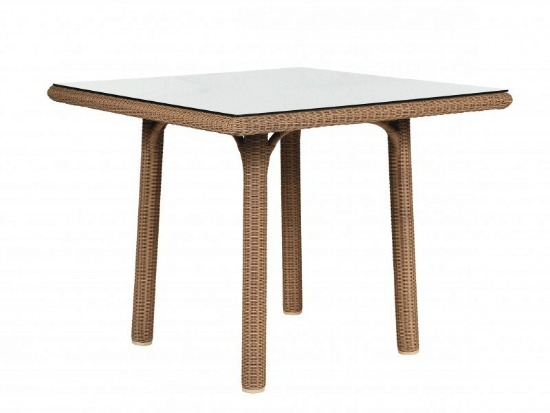 Square resin garden table SHANGHAI | Square table by Tectona