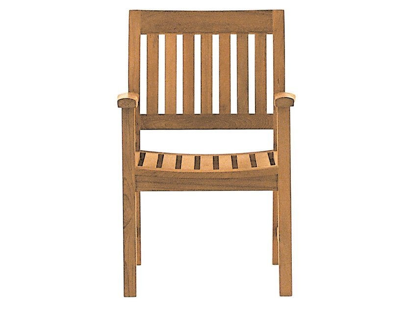 Teak garden chair with armrests BAMPTON | Chair with armrests by Tectona