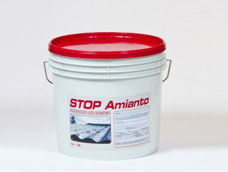 Asbestos encapsulation treatment and product STOP AMIANTO FINITURA by CHIRAEMA