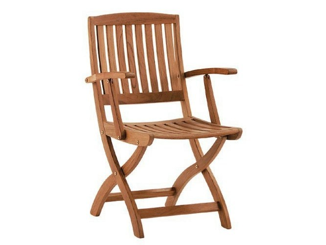 Teak garden chair with armrests BARTON | Chair with armrests by Tectona