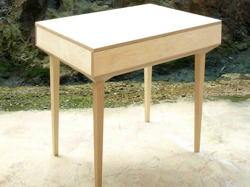 Wooden secretary desk PUPITRE P1 by MALHERBE EDITION