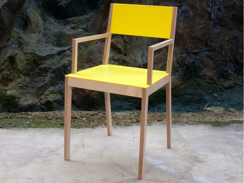 Chair with armrests C3 | Chair with armrests by MALHERBE EDITION