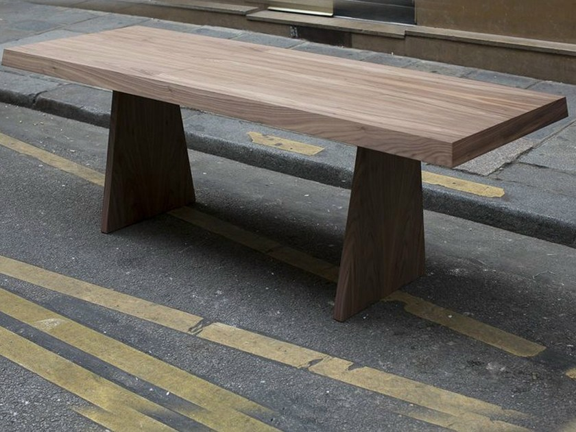 Rectangular plywood table TR 1   Table by MALHERBE EDITION