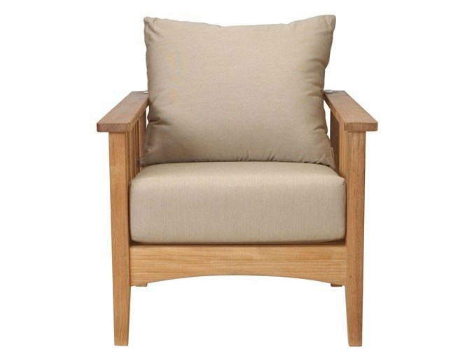 Recliner teak garden armchair with armrests GOA | Garden armchair by Tectona