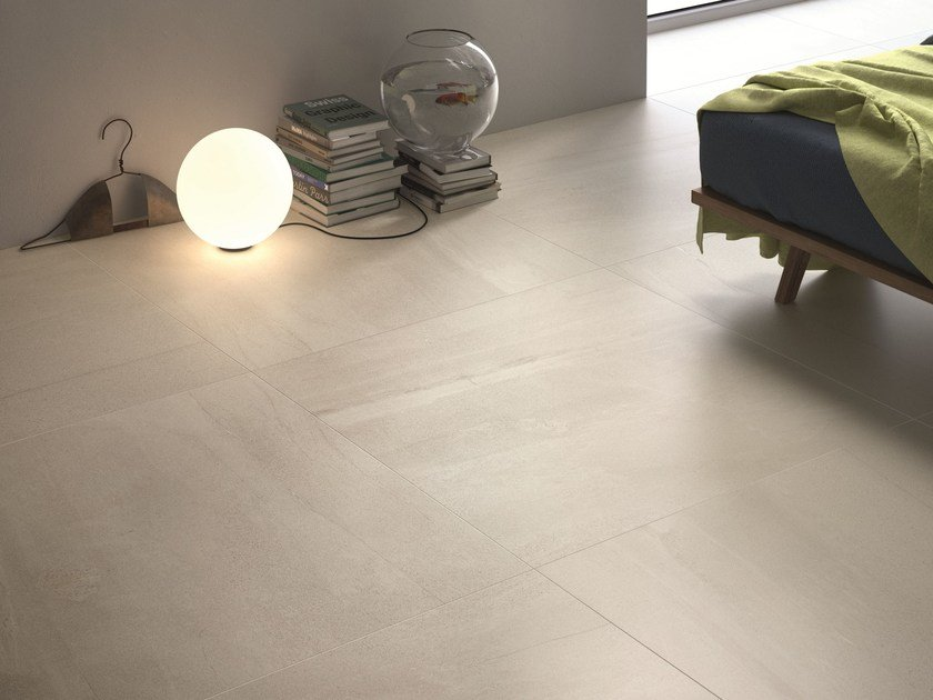 Flooring with stone effect BASALTINA WHITE by ARIOSTEA
