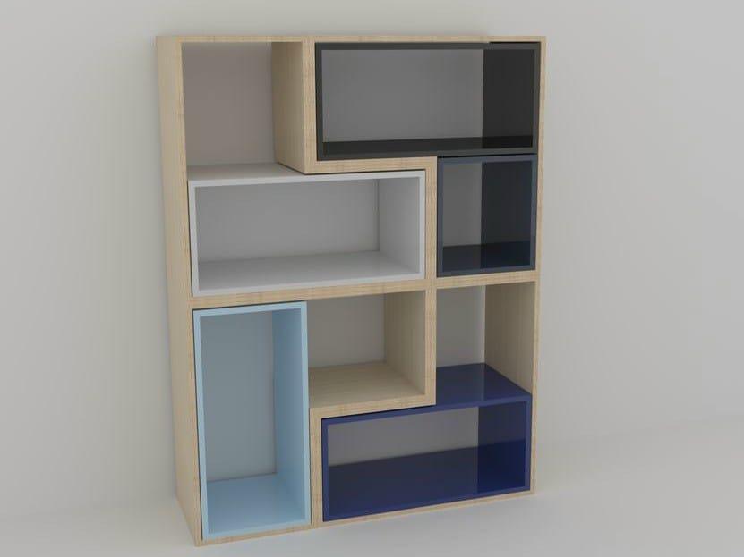 Sectional floating bookcase MÉLI-MÉLO | Bookcase by MALHERBE EDITION