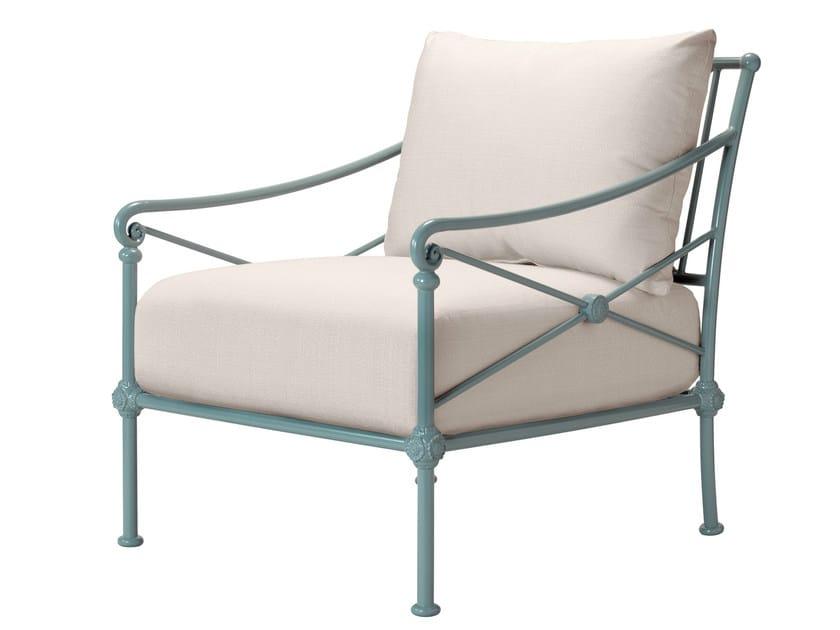 Aluminium garden armchair with armrests 1800 | Garden armchair by Tectona