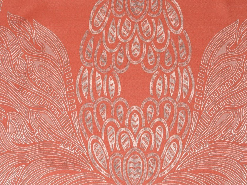 Damask washable fabric CARIBBEAN BREEZE by KOHRO