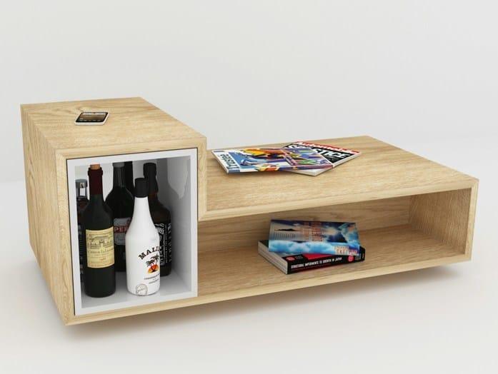 Rectangular multi-layer wood coffee table BAR LB2 by MALHERBE EDITION