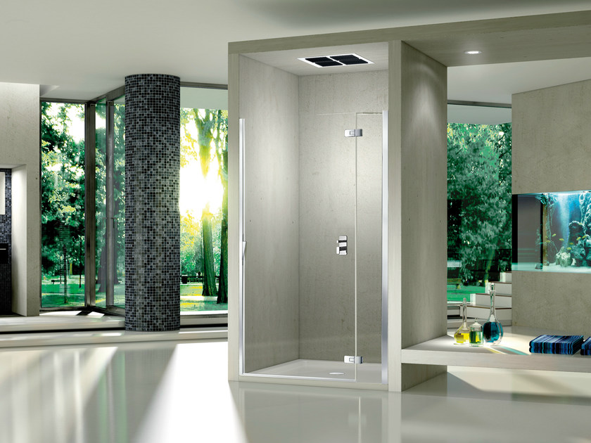 Niche crystal shower cabin with hinged door PURA 5000 NEW | Niche shower cabin by Duka