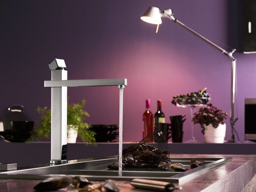 Chrome-plated kitchen mixer tap with swivel spout TOWER | Kitchen mixer tap with swivel spout by Nobili Rubinetterie