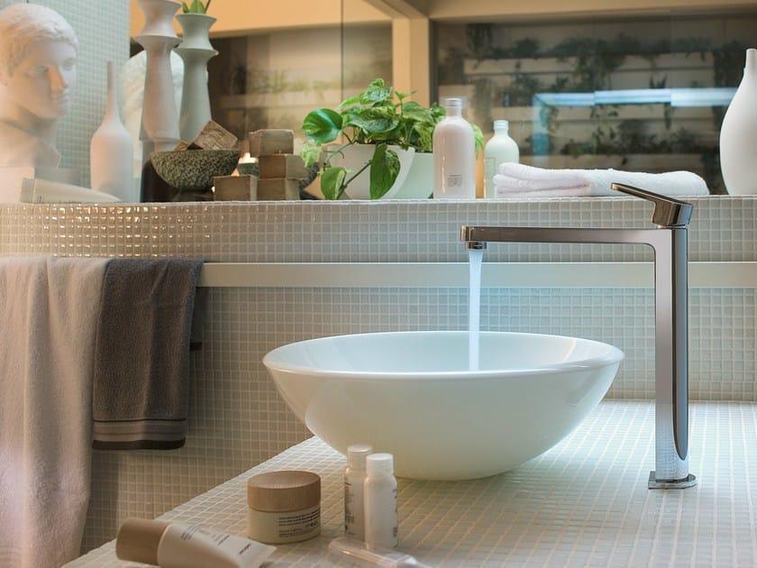 Single handle washbasin mixer with automatic pop-up waste UP | Chrome-plated washbasin mixer by Nobili Rubinetterie