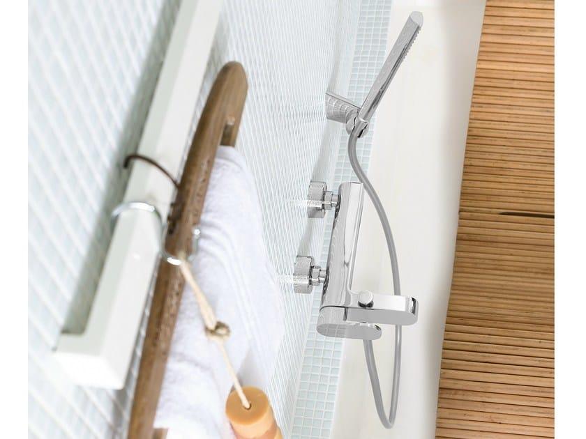 Wall-mounted chrome-plated bathtub mixer UP | Bathtub mixer by Nobili Rubinetterie