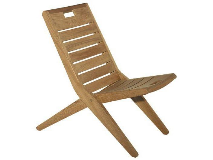 Folding teak garden chair POSITANO by Tectona