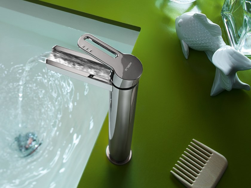 Washbasin mixer with automatic pop-up waste NEW ROAD | Washbasin mixer by Nobili Rubinetterie