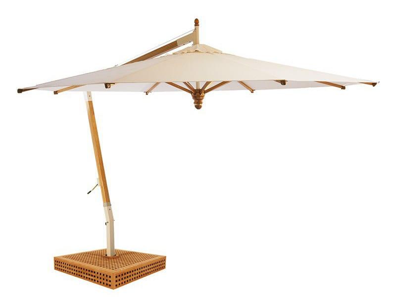Offset round aluminium Garden umbrella COLIBRI by Tectona