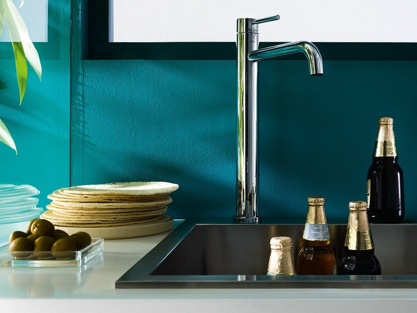 Chrome-plated 1 hole kitchen mixer tap LIVE | Kitchen mixer tap by Nobili Rubinetterie