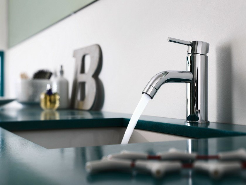 Chrome-plated single handle washbasin mixer LIVE | Chrome-plated washbasin mixer by Nobili Rubinetterie
