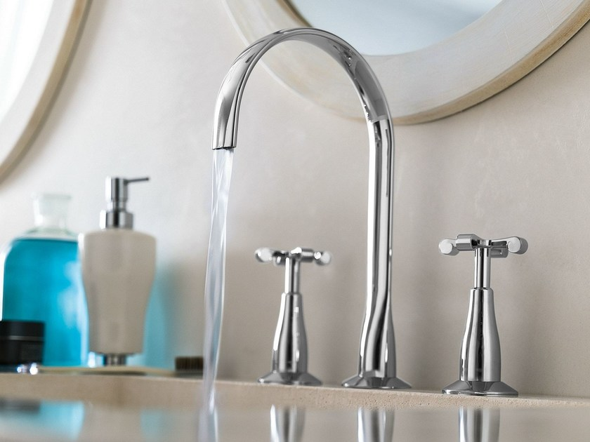 3 hole chrome-plated countertop washbasin tap CARLOS PRIMERO | Washbasin tap by Nobili Rubinetterie