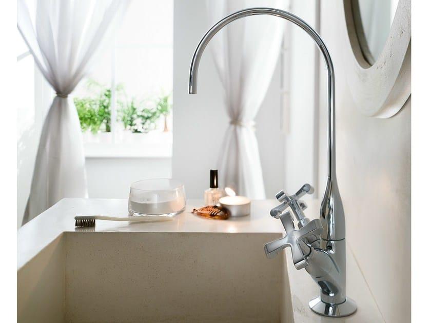 Chrome-plated countertop 1 hole washbasin tap CARLOS PRIMERO | 1 hole washbasin tap by Nobili Rubinetterie