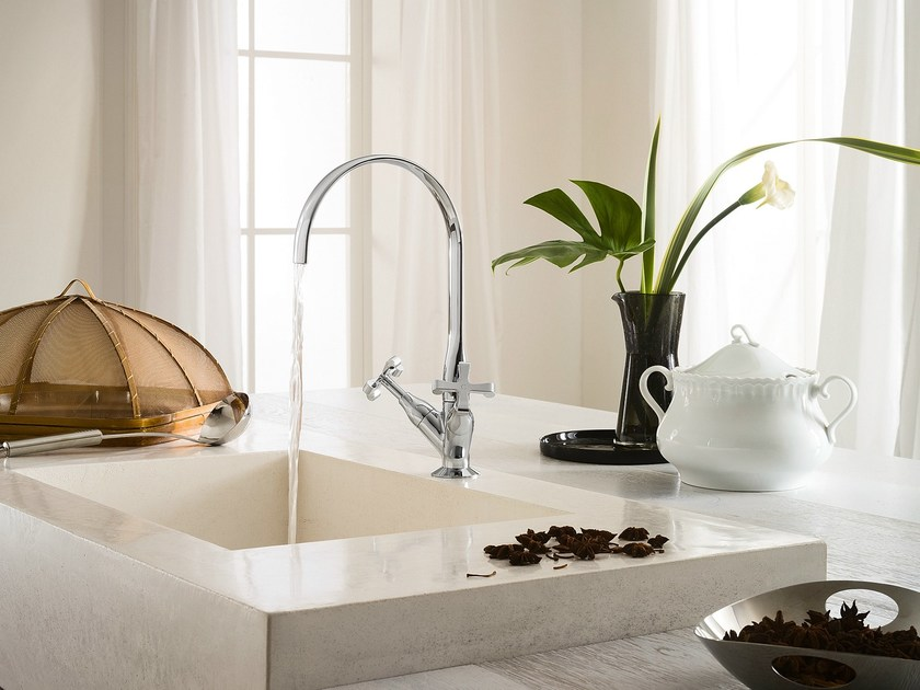 Chrome-plated countertop 1 hole kitchen tap CARLOS PRIMERO | Kitchen tap by Nobili Rubinetterie