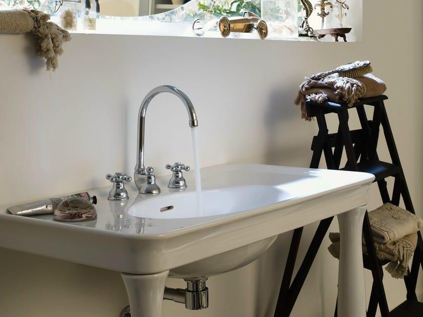 3 hole chrome-plated washbasin tap GRAZIA   3 hole washbasin tap by Nobili Rubinetterie