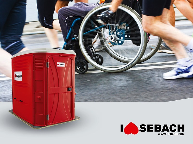 Portable WC for Disabled TOP SAN® HN 2.0 by sebach