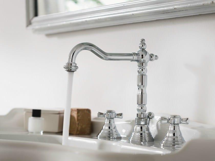 3 hole chrome-plated washbasin tap RITZ | 3 hole washbasin tap by Nobili Rubinetterie