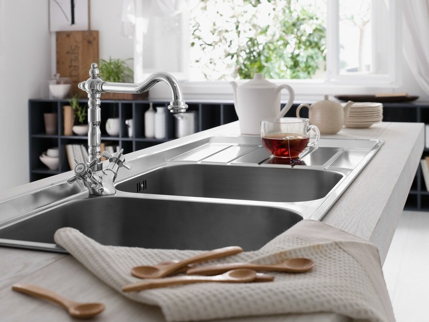 Chrome-plated countertop 1 hole kitchen tap RITZ   Kitchen tap by Nobili Rubinetterie