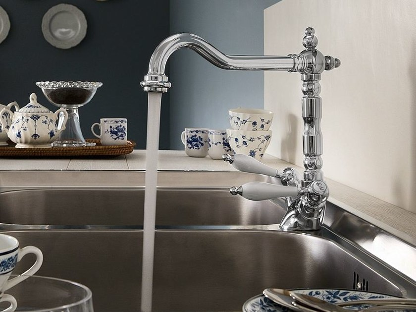 Chrome-plated 1 hole kitchen tap ANTICA | Kitchen tap by Nobili Rubinetterie