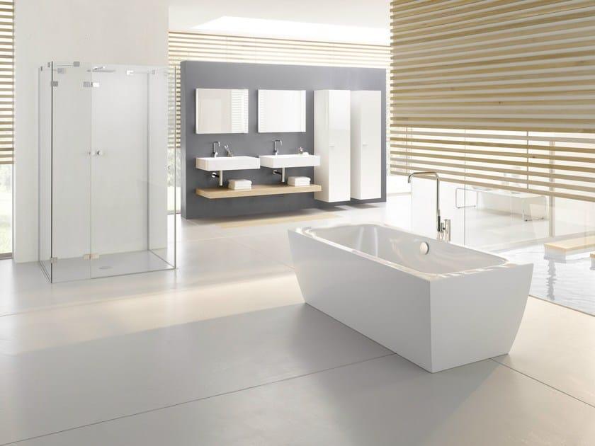 Freestanding rectangular bathtub BETTECUBO SILHOUETTE by Bette