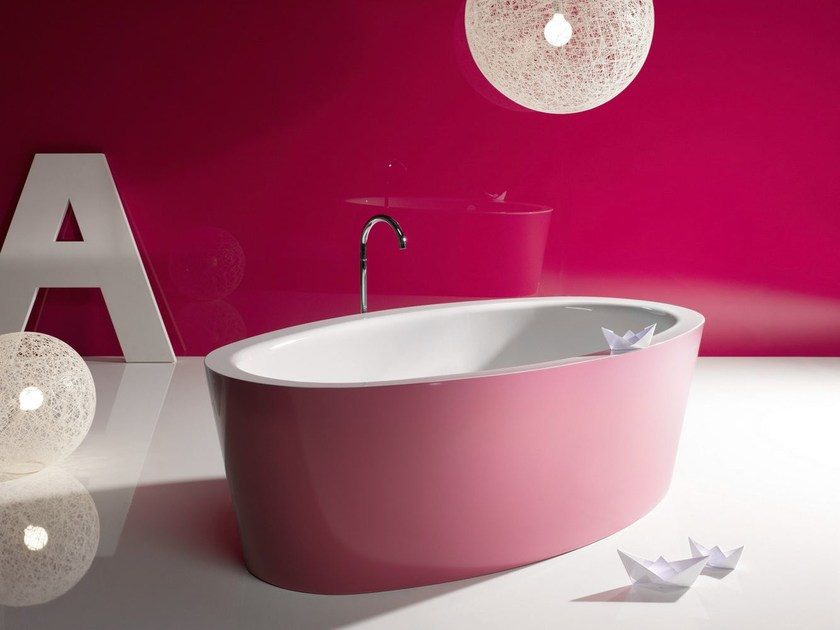Freestanding bathtub BETTEHOME SILHOUETTE BiCOLOUR by Bette