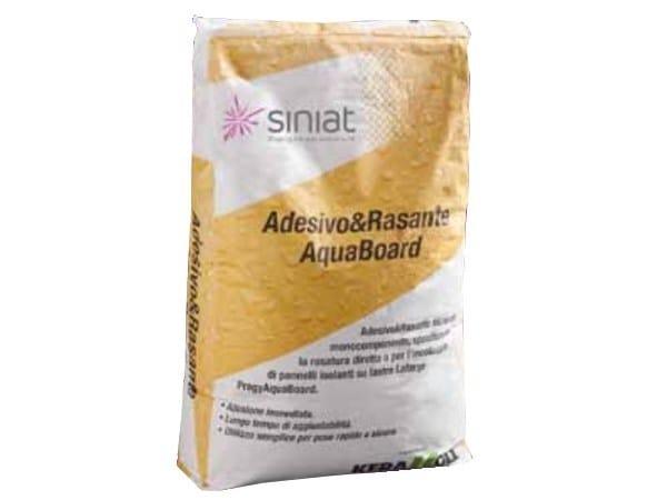 Skim coat and cementitious finish for plaster Adesivo e rasante AquaBoard by Siniat