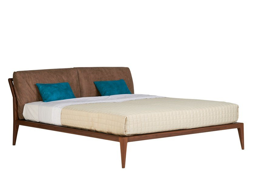 Walnut double bed INDIGO | Double bed by SELVA