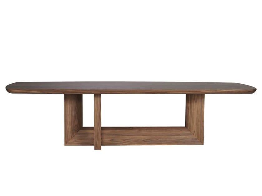 Walnut dining table INDIGO | Dining table by SELVA