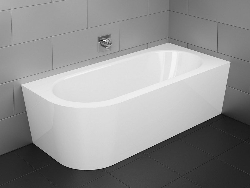 asymmetric enamelled steel bathtub bettestarlet v