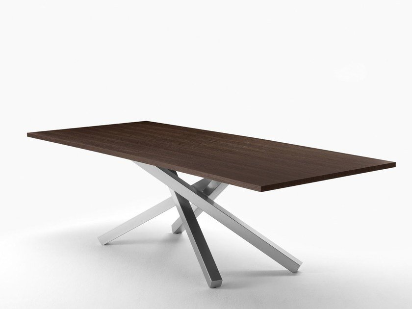 Rectangular table PECHINO   Steel and wood table by Midj