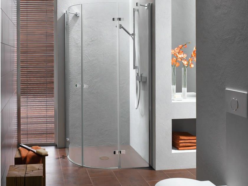Corner enamelled steel shower tray BETTEFLOOR CORNER by Bette